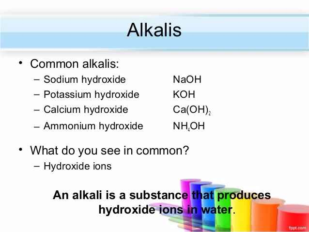 Which Alkali Is Used To Open a Drain?