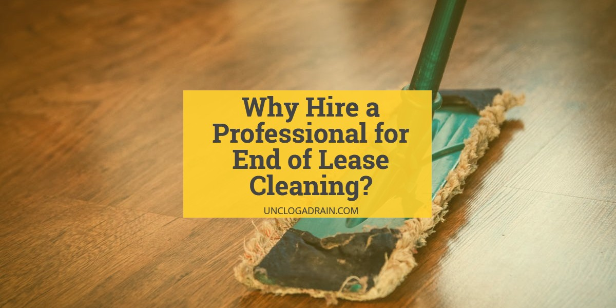 Why is End of Lease Cleaning Difficult? Why Hire a Professional?