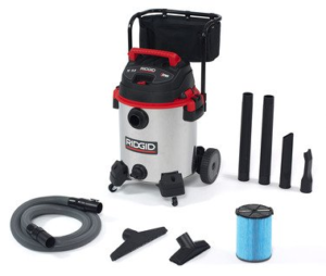 Ridgid 1610RV wet-dry vacuum stainless with cart