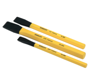 Stanley 3 piece cold chisel kit