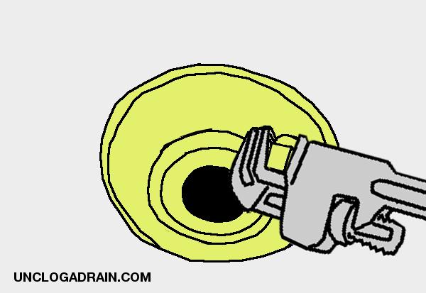Garage floor drain - remove cleanout plug