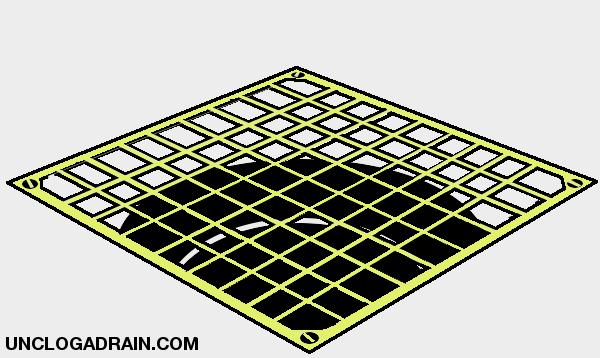 Remove garage floor drain cover